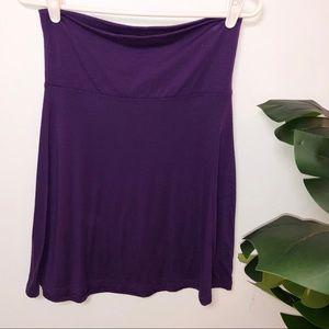 Plum Purple Old Navy Fold Over Skirt